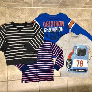 Bundle of 4 long sleeve T-shirt's for Boys size 5